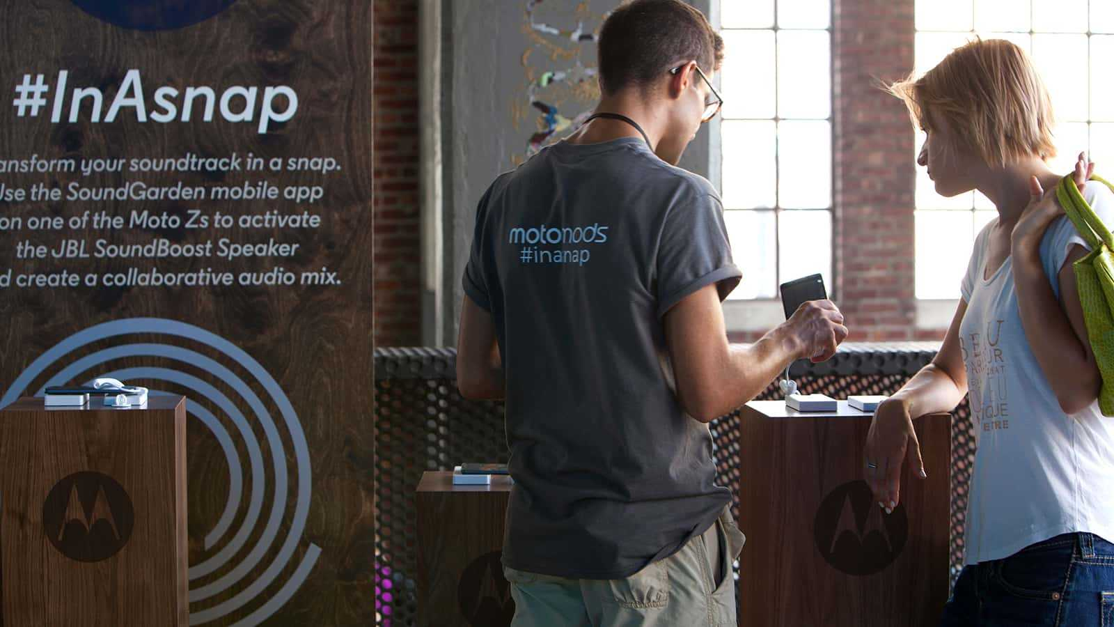 Moto Z Highline 2016 InAsnap Booth