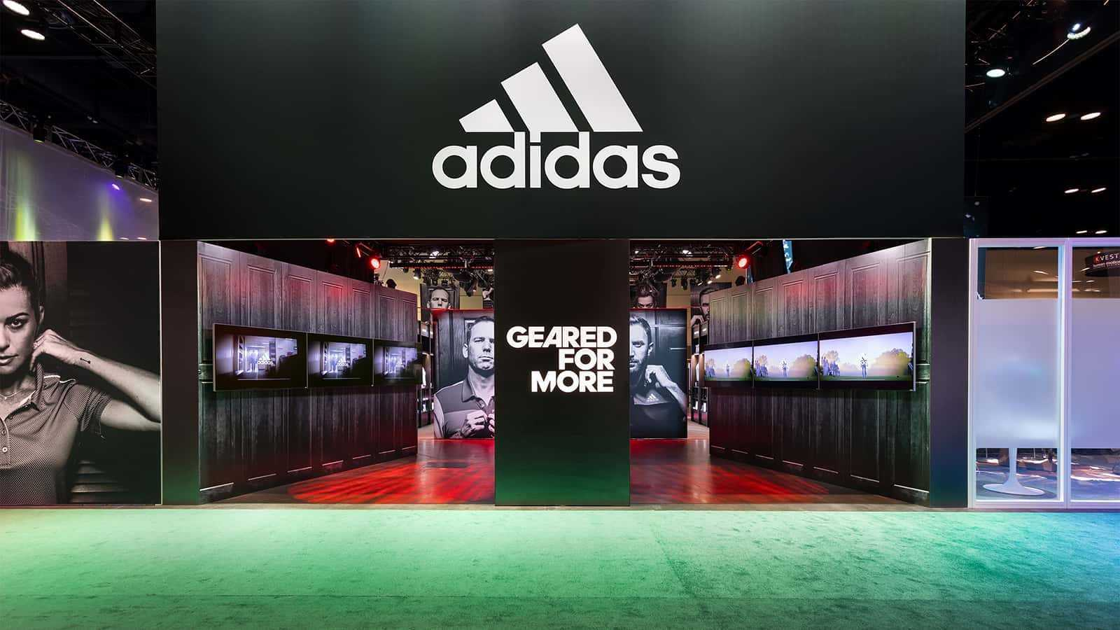 Entrance of the adidas Golf PGA Merchandise Show 2017 experience.