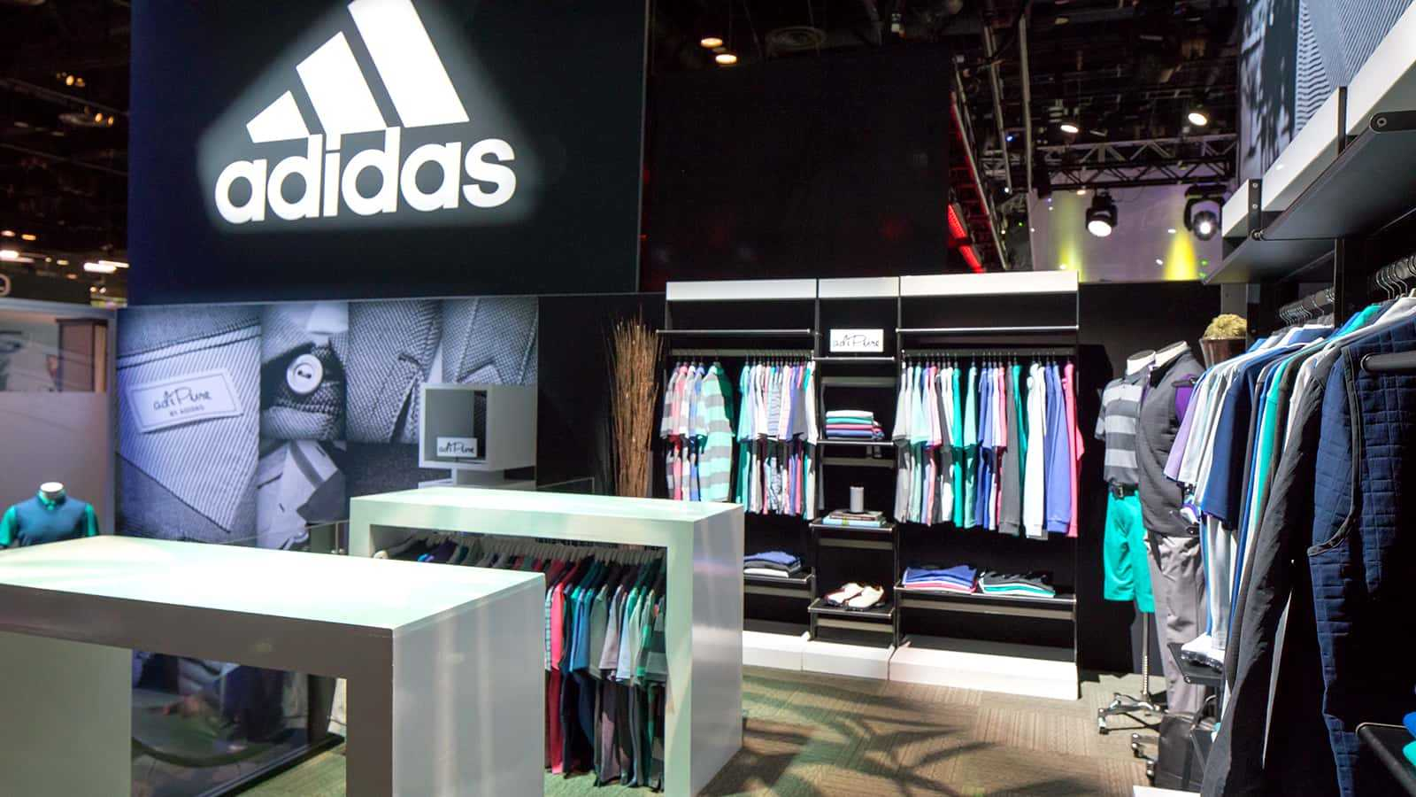 adiPure by adidas retail zone at the adidas Golf PGA Merchandise Show 2017 experience.