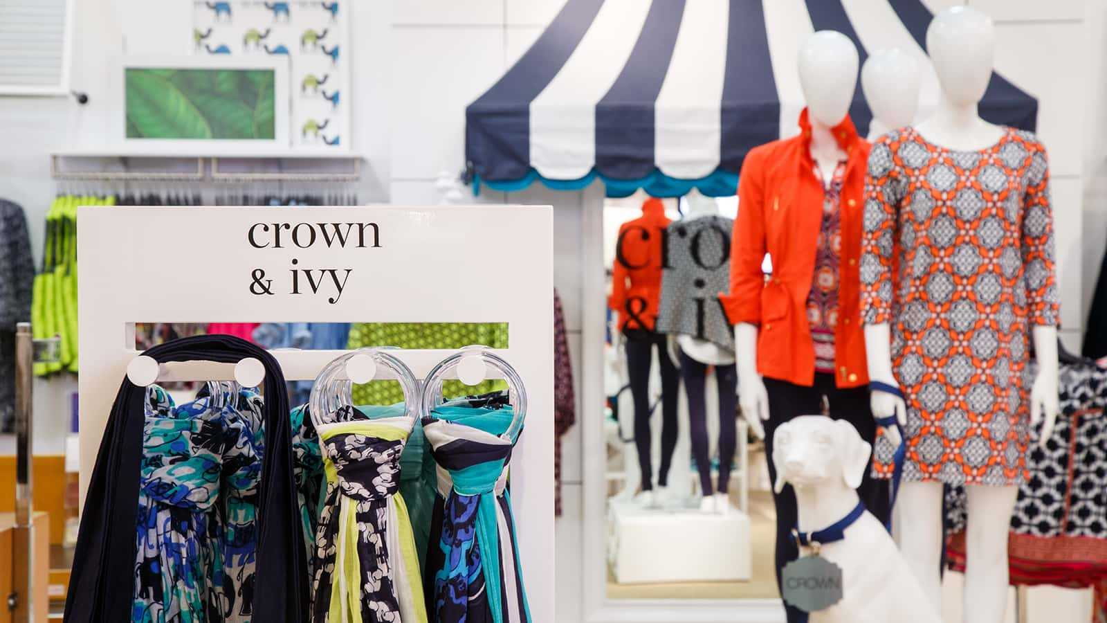 Branded fixture of the Crown & Ivy shop-in-shop 2016.