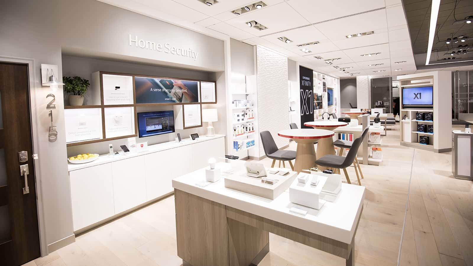Comcast Xfinity Stores got a new design during this roll out.
