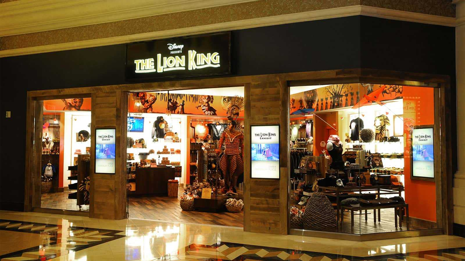 The entrance of the Mandalay Bay Lion King Theater Store.