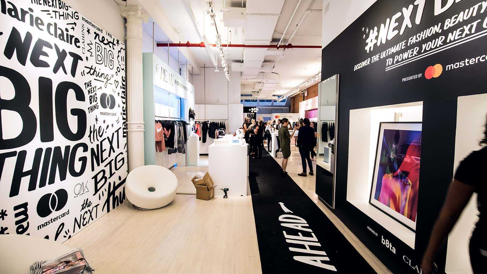 View from entrance at Marie Claire Next Big Thing Concept Shop in New York City 2017.
