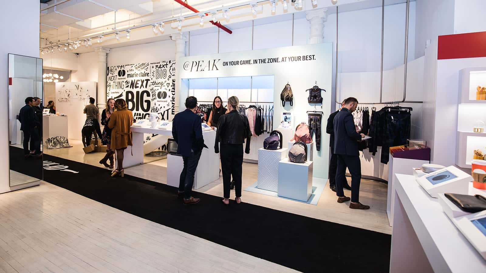 Customers browsing at Marie Claire Next Big Thing Concept Shop in New York City 2017.