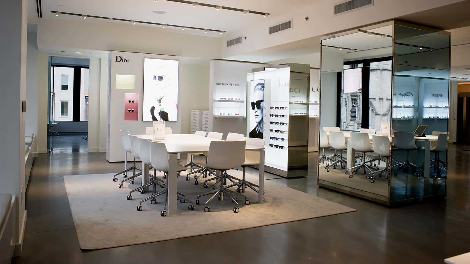 Conference area of the Safilo New York showroom.