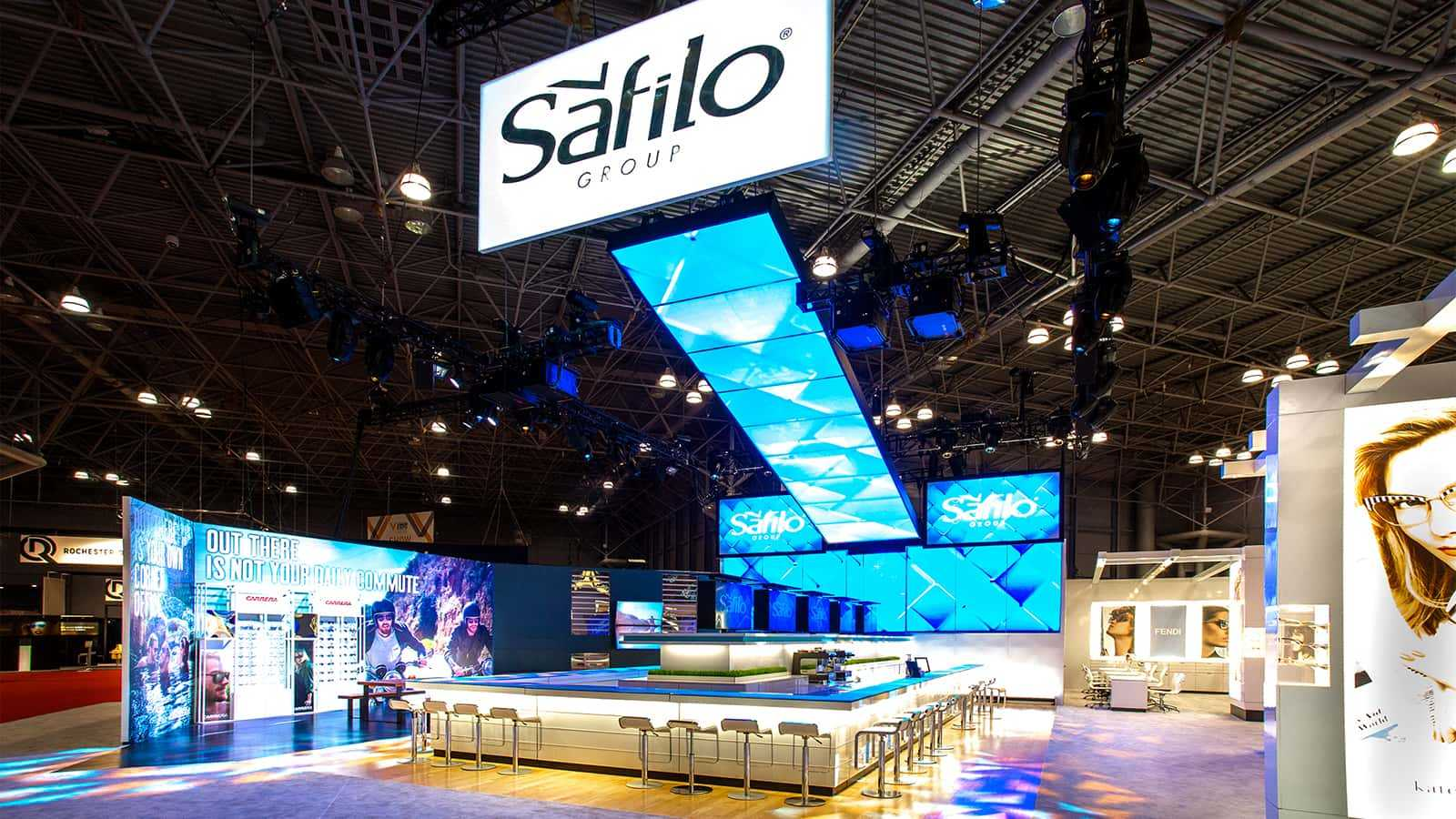 Safilo Vision East Expo 2015 Main Booth Front View