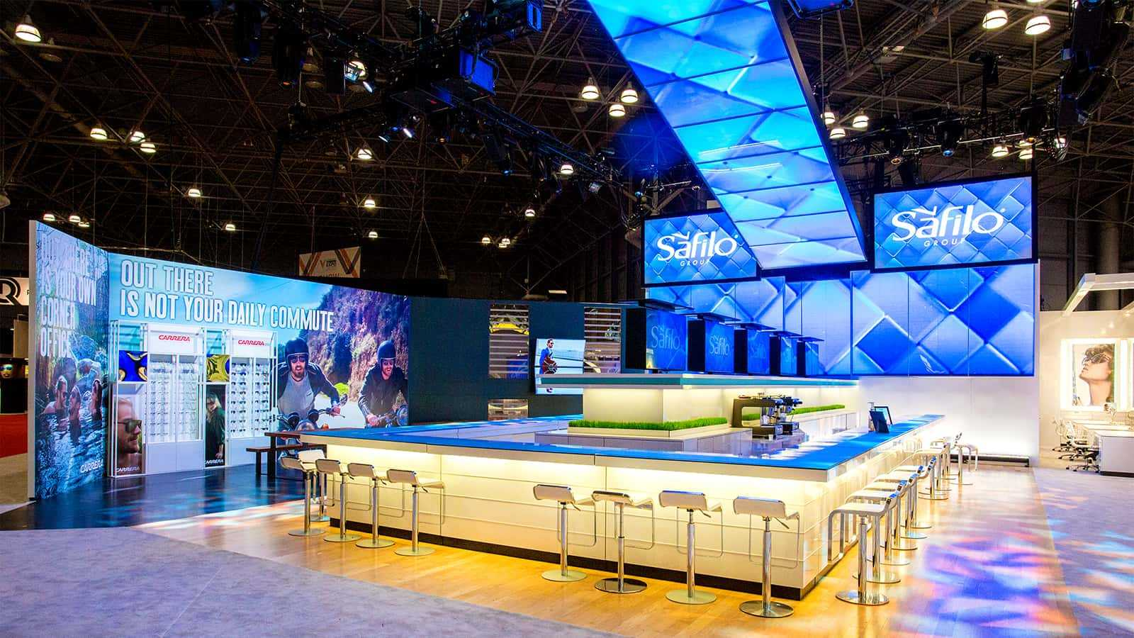 Safilo Vision East Expo 2015 Main Booth Bar Front View