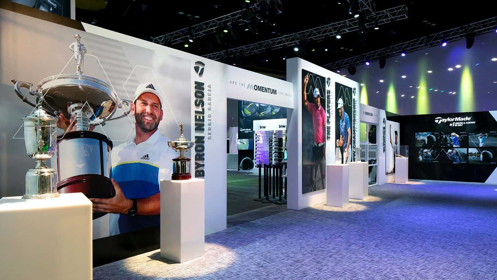 Sergio Garcia display at the TaylorMade PGA Merchandise Show 2017 experience.