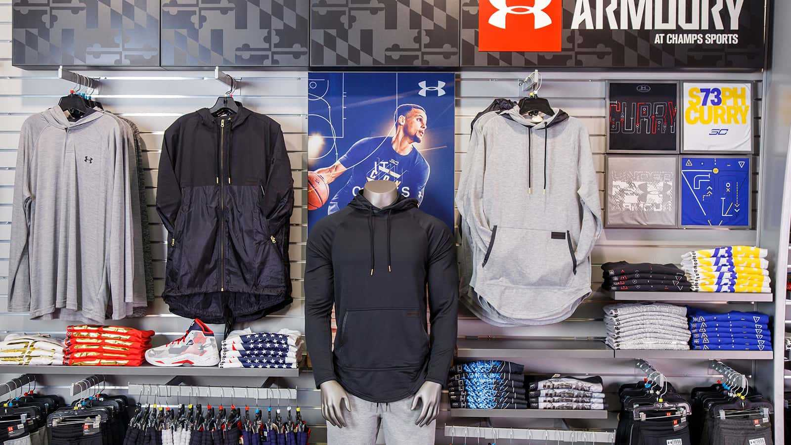 under armour - wholesale overview display